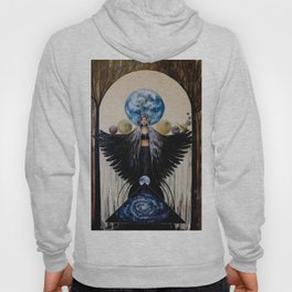 Between the Worlds // Visionary Art Woman Goddess Feminine Earth Moon Planets Stars Hoody