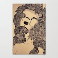lions Canvas Prints featuring Lions by Zora Chen