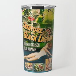 Creature from the Black Lagoon, vintage horror movie poster Travel Mug