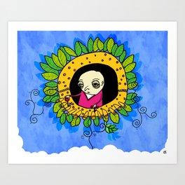 flower machine Art Print