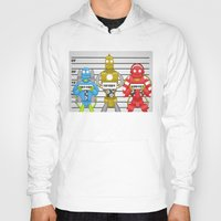 robots Hoodies featuring Robots by charlie usher