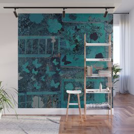 butterflies_I turquoise Wall Mural