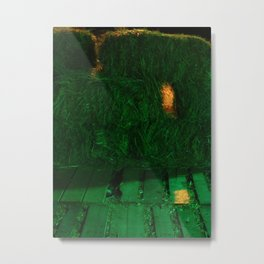 A Hole In The Hay Metal Print