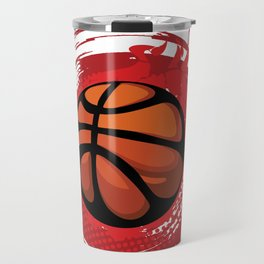 Fire Red Aura Blood Comic Basketball Gift Travel Mug