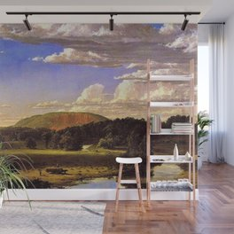West Rock, New Haven, Connecticut Landscape by Frederic Edwin Church Wall Mural