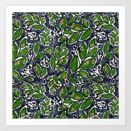 Midnight Botanicals  Art Print