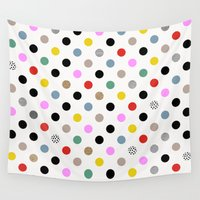 dot Wall Tapestries featuring Coloured Dot by Georgiana Paraschiv