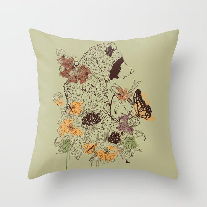 Northern Bear Throw Pillow by kylenaylor Society6