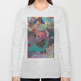 Colorful Abstract Textures Long Sleeve T-shirt