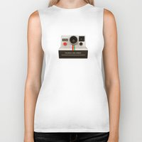 polaroid Biker Tanks featuring POLAROID by MiliarderBrown