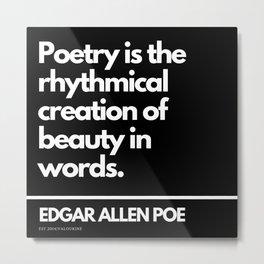 32  Edgar Allen Poe Quotes   201012  Existentialism Nihilism Existentialist Philosophy Writer Raven Metal Print