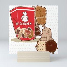 Garden family assorted biscuits Mini Art Print