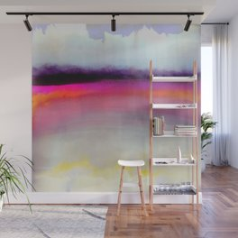 Pink Silver Wall Mural