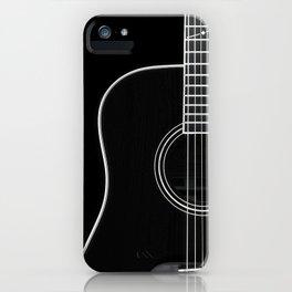 Guitar BW iPhone Case