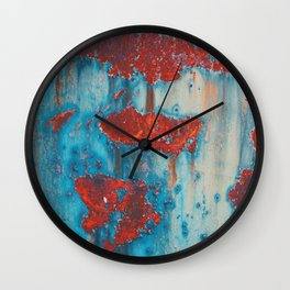Abstract artistic surface with rusty stains Wall Clock