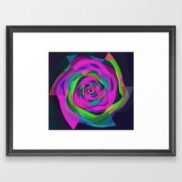 Spiral Colourful Design Framed Art Print
