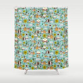 Guinea Pig Love Shower Curtain