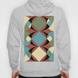 A lot of confusion and a still blue element. A Square, at the center of the composition. Hoody