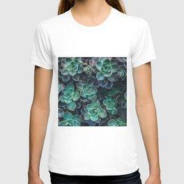 Succulent Blue Green Plants T-shirt