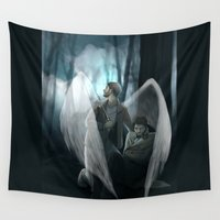 verse Wall Tapestries featuring Reverse!verse Purgatory by Justyna Rerak