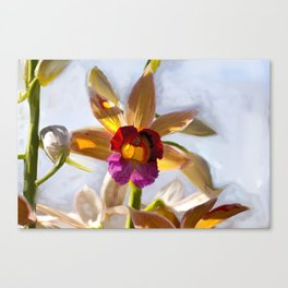 Orchid Abstract Painting Canvas Print
