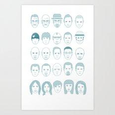 Breaking Bad all Faces Art Print