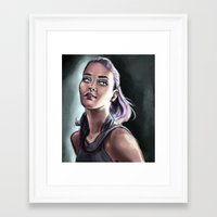neon Framed Art Prints featuring Neon by Lily Fitch