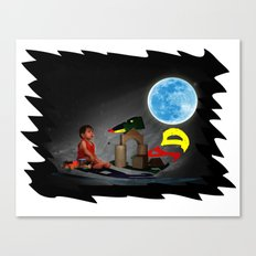 Watching the Moon Canvas Print
