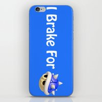 mario kart iPhone & iPod Skins featuring I Brake For Blue Shells (Mario Kart)  by Don Enrique