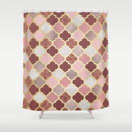 Warm rose gold moroccan Shower Curtain