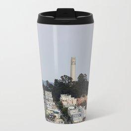 Streets Of San Francisco With Coit Tower Travel Mug