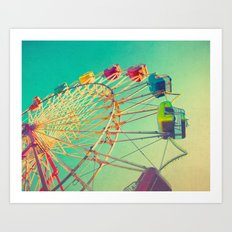 October Skies Art Print