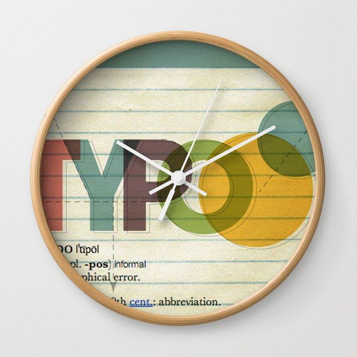 typo Wall Clock