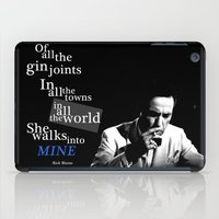 casablanca iPad Cases featuring Gin Joints by Ralf Crawford