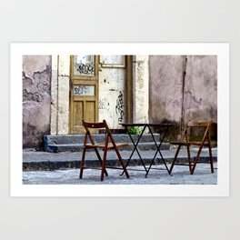 Coffee time in Catania on the Isle of Sicily Art Print