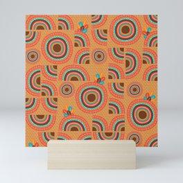 Africa orange hand-drawn cropped Mandalas Mini Art Print