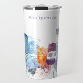 Colorful Albuquerque skyline design Travel Mug