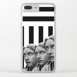 Striped Ladies Clear iPhone Case