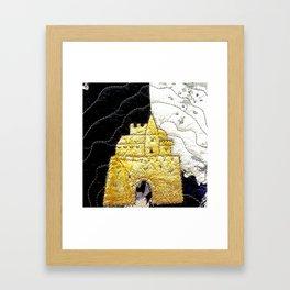 Fairy tale castle in yellow Framed Art Print
