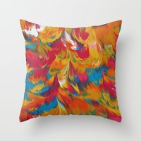 psychedelic Throw Pillows featuring Psychedelic by DuckyB