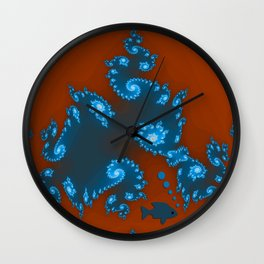 Floating in poisoned waters... Wall Clock