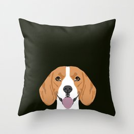 Darby - Beagle gifts for pet owners and dog person with a beagle Throw Pillow