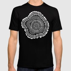 Growth Rings – 65 Years – Black Black LARGE Mens Fitted Tee