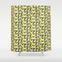 Cockatiel Art Shower Curtain