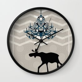A Moose finds home Wall Clock