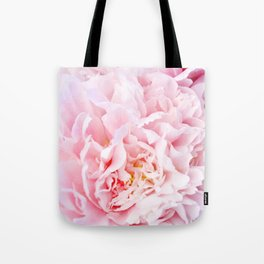 Peony Flower Photography, Pink Peony Floral Art Print Nursery Decor A happy life - Peonies 3 Tote Bag