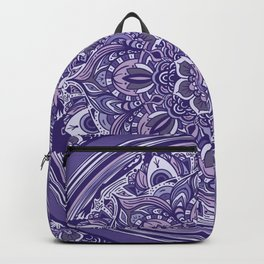 Great Purple Mandala Backpack