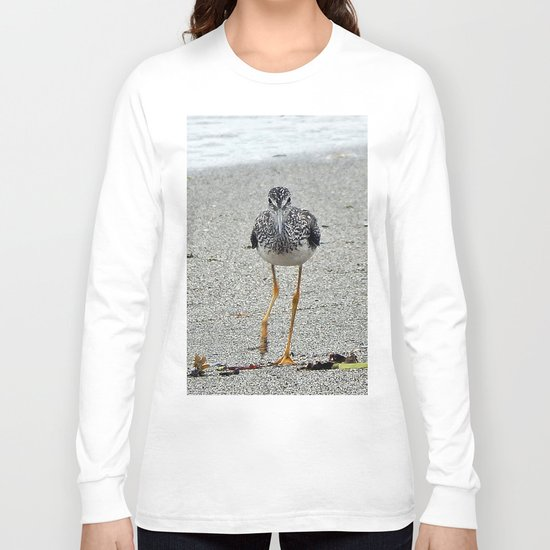 Greater Yellowlegs (Sandpiper) Looking at Camera  Long Sleeve T-shirt