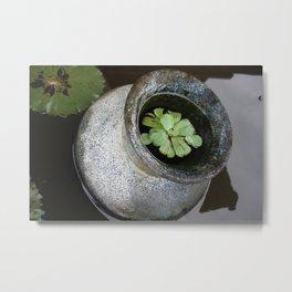 Zen Pond Metal Print