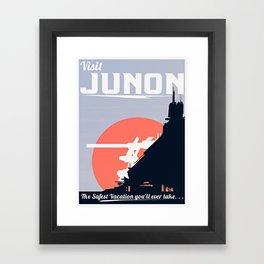 Final Fantasy VII - Visit Junon Propaganda Poster Framed Art Print
